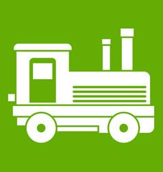 locomotive icon green vector image