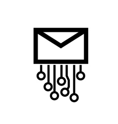 logo mail vector image