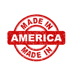 made in america red stamp on white background vector image