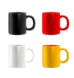 Mugs set vector
