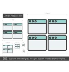 Multiple webpage line icon vector