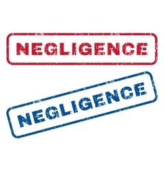 Negligence Rubber Stamps vector