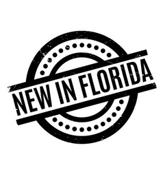 new in florida rubber stamp vector image