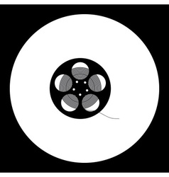 Old movie tape simple isolated icon eps10 vector