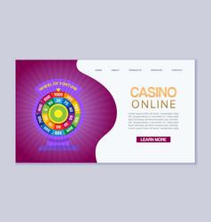 online casino internet gambling wheel fortune vector image