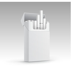 Opened pack cigarettes isolated on background vector