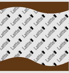 Pattern latte background vector