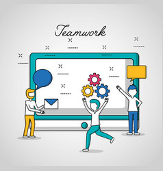 people teamwork concept vector image