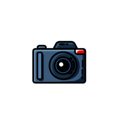 photo camera in flat style vector image