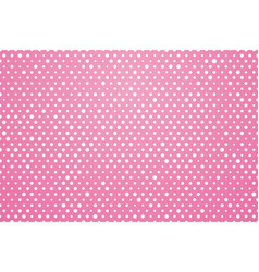 pink background with white polka dots vector image