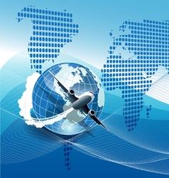 Plane modern background vector