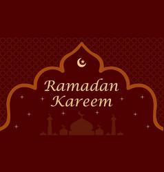 ramadan kareem and mubarak greeting background isl vector image