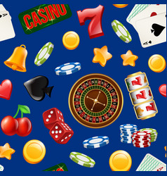 realistic casino gamble pattern or vector image