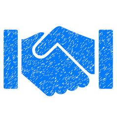 Relation handshake grunge icon vector