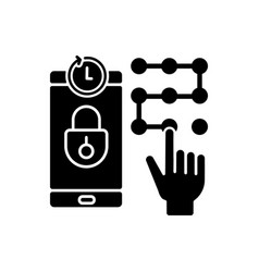 request new pin black glyph icon vector image