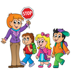 School kids theme image 1 vector