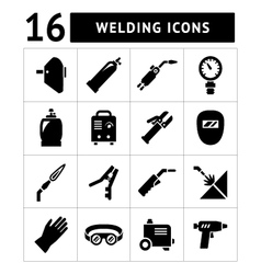 Set icons of welding vector