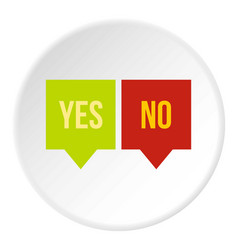 Signs of yes and no icon circle vector