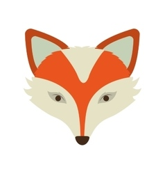 Silhouette orange color of fox face vector