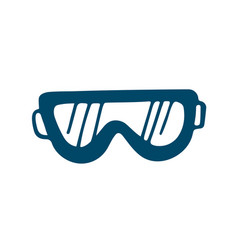 ski goggles icon in doodle style isolated on vector image