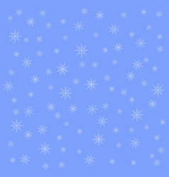 snowflake on winter gray sky background christmas vector image