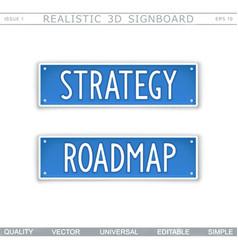 Strategy roadmap design elements vector
