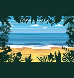 summer holidays vacation seascape landscape ocean vector image