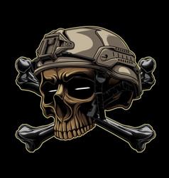Tactical skull vector