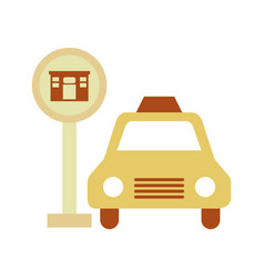 Taxi service with hotel sign vector