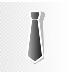 tie sign new year blackish vector image