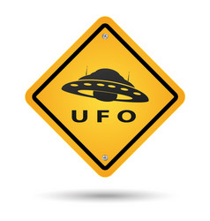 ufo yellow sign vector image