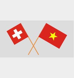 Vietnamese and swiss flags vector