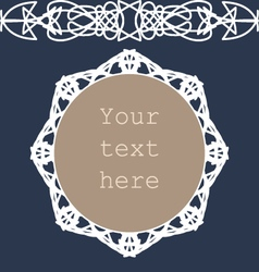 Vintage style white frame and border vector image