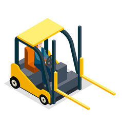 warehouse equipment cargo delivery storage service vector image
