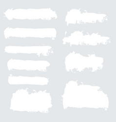 White grunge watercolor ink texture set vector