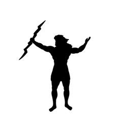Zeus jupiter god silhouette ancient mythology vector