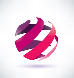 abstract red globe icon energy concept vector image vector image