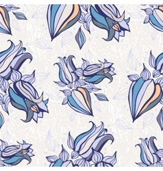 Bell flowers Seamless background vector image