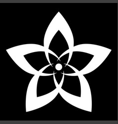 flower the white color icon vector image