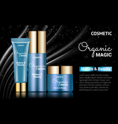 moisturizer facial cream splendid jar bank tube vector image vector image
