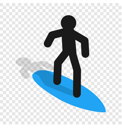 surfer isometric icon vector image