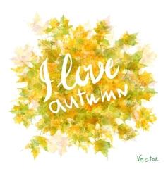 watercolor autumn leaves maple leaf flora vector image