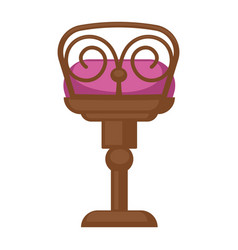 wooden chair with pillow vector image