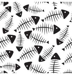 Fish Bone Seamless Pattern Background vector image