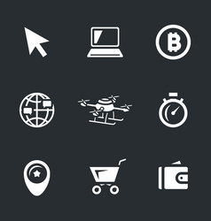 set of online shop icons vector image