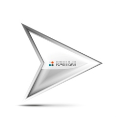 3d glossy arrow technology concept vector image vector image