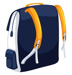 Backpack with blue and yellow colors vector image vector image