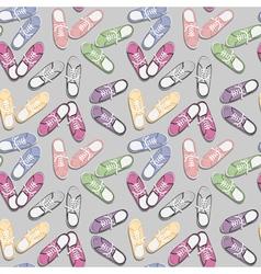 Colorful sport gumshoes vector image
