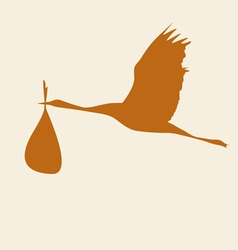 crane with a bag color vector image