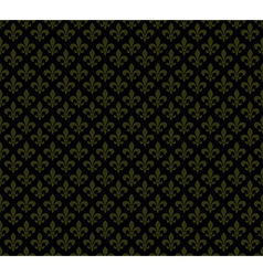 Fleur de lis dark seamless pattern background vector image